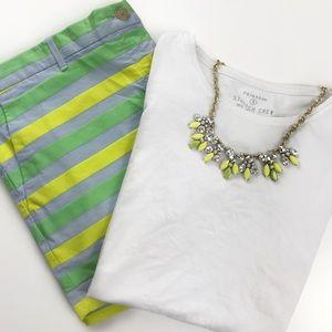 🚨SALE🚨Neon Stripe Gap Chino Shorts Size 16